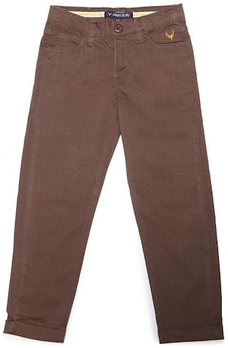 Allen Solly Boy Printed Trousers - Brown