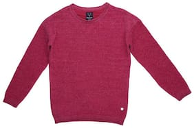 Allen Solly Girl Polyester Solid Sweater - Pink