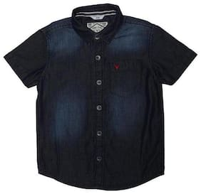 Allen Solly Boy Cotton Solid Shirt Blue