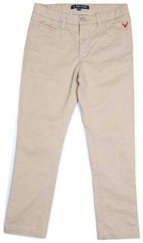 Allen Solly Blended Regular Fit Khaki Trousers