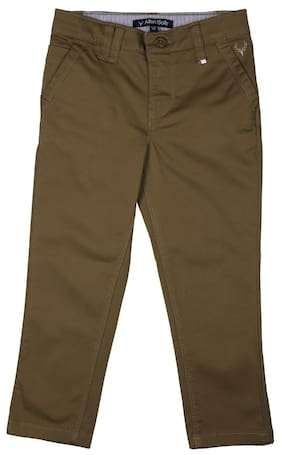 Allen Solly Boy Solid Jeans - Green