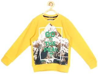 Allen Solly Boy Blended Printed Sweatshirt - Yellow