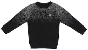 Allen Solly Boy Cotton blend Printed Sweatshirt - Black