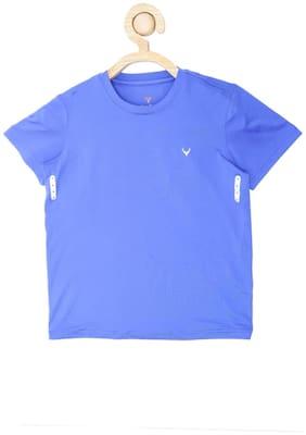 Allen Solly Boy Cotton Solid T-shirt - Blue