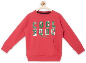 Allen Solly Boy Blended Printed Sweatshirt - Red