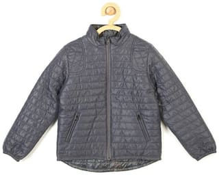 Allen Solly Boy Blended Solid Winter jacket - Grey