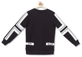 Allen Solly Boy Blended Striped T-shirt - Black