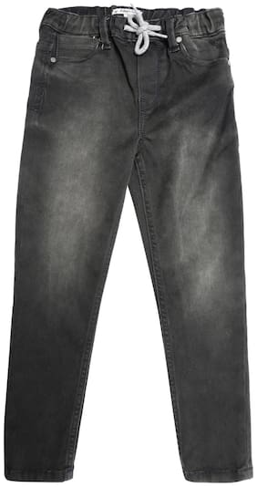 Allen Solly Boy's Regular fit Jeans - Black