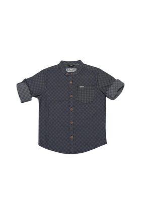 Allen Solly Boy Cotton Solid Shirt Black