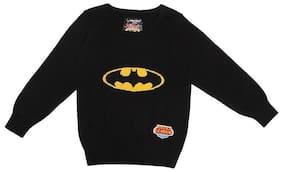 Allen Solly Boy Cotton Solid Sweater - Black
