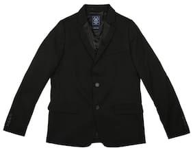 Allen Solly Boy Blended Solid Ethnic jacket - Black