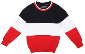 Allen Solly Boy Cotton Colorblocked Sweater - Multi