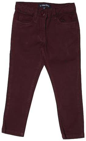 Allen Solly Girl Cotton Blend Trousers - Purple