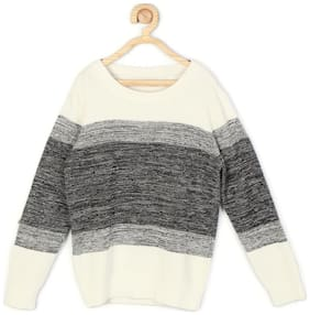 Allen Solly Boy Blended Solid Sweater - Multi