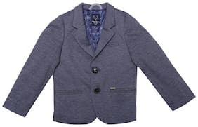 Allen Solly Boy Polyester Solid Sweater - Blue