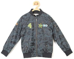 Allen Solly Boy Blended Solid Winter jacket - Blue