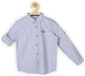 Allen Solly Boy Cotton Striped Shirt Blue