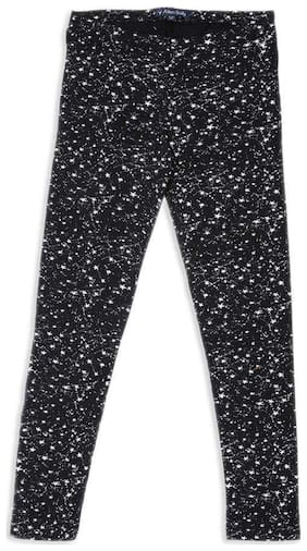 Allen Solly Blended Printed Leggings - Black