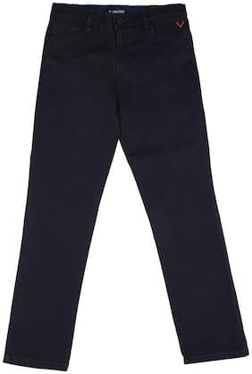 Allen Solly Boy Solid Trousers - Blue
