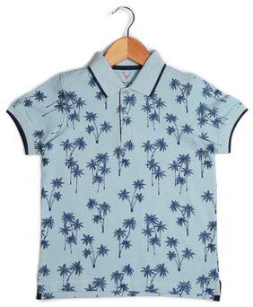 Allen Solly Boy Blended Printed T-shirt - Blue