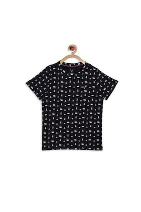 Allen Solly Boy Blended Printed T-shirt - Black