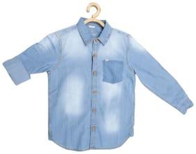Allen Solly Boy Blended Solid Shirt Blue
