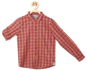 Allen Solly Boy Cotton Checked Shirt Multi