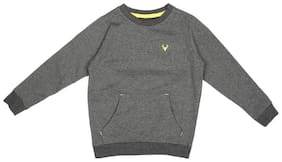 Allen Solly Boy Cotton Solid Sweatshirt - Grey