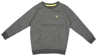 Allen Solly Boy Cotton Solid Sweatshirt - Grey