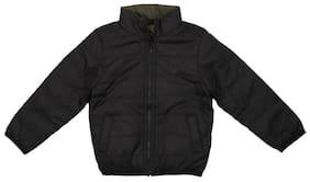 Allen Solly Boy Polyester Solid Winter jacket - Black