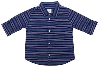 Allen Solly Cotton Striped Shirt for Baby Boy - Blue