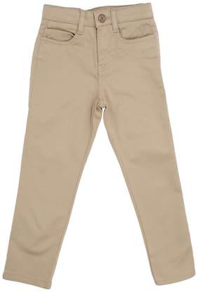 Allen Solly Boy Solid Trousers - Beige