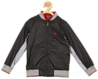 Allen Solly Boy Blended Solid Winter jacket - Grey