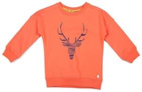Allen Solly Orange Sweatshirt