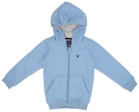 Allen Solly Boy Cotton blend Solid Sweatshirt - Blue
