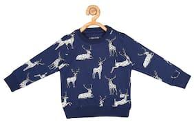 Allen Solly Boy Cotton Printed Sweatshirt - Blue