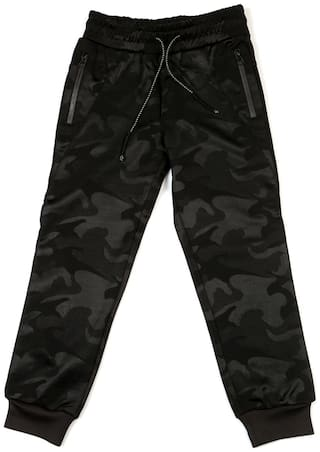 Allen Solly Boy Printed Trousers - Black