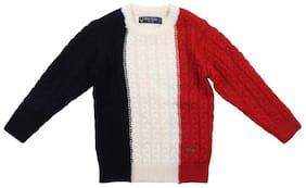 Allen Solly Boy Acrylic Colorblocked Sweater - Multi
