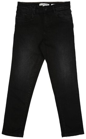 Allen Solly Boy Solid Jeans - Black