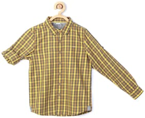 Allen Solly Boy Blended Checked Shirt Multi