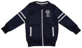 Allen Solly Boy Polyester Solid Sweatshirt - Blue