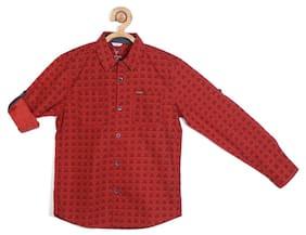Allen Solly Boy Cotton Printed Shirt Multi