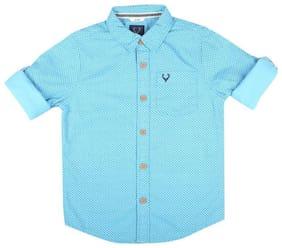 Allen Solly Boy Cotton Printed Shirt Blue