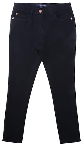 Allen Solly Girl Blended Trousers - Blue
