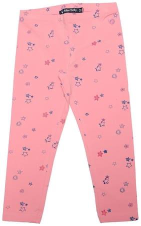 Allen Solly Cotton Printed Leggings - Pink