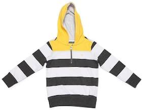 Allen Solly Boy Poly cotton Striped Sweatshirt - White