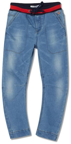 Allen Solly Boy Solid Jeans - Blue