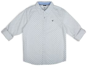 Allen Solly Boy Cotton Printed Shirt Grey