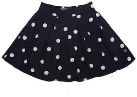 Allen Solly Girl Cotton blend Printed A- line skirt - Black