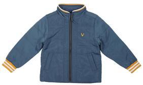 Allen Solly Boy Polyester Solid Winter jacket - Blue